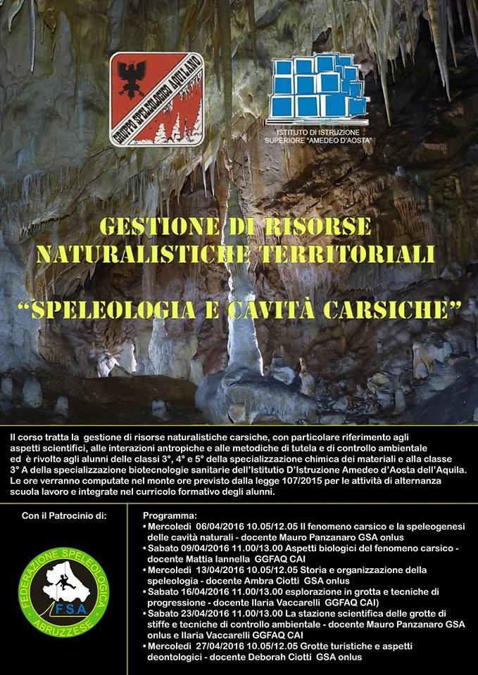 Corso gestione risorse naturalistiche territoriali